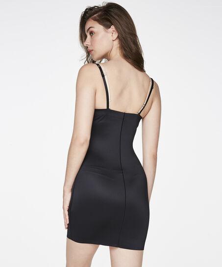 Corrigerende jurk Scuba, Zwart