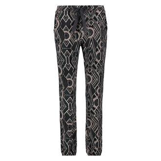 Pyjamabroek Jersey loose fit, Zwart