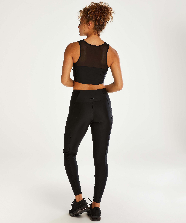 HKMX High waisted sport legging Shine On, Zwart, main
