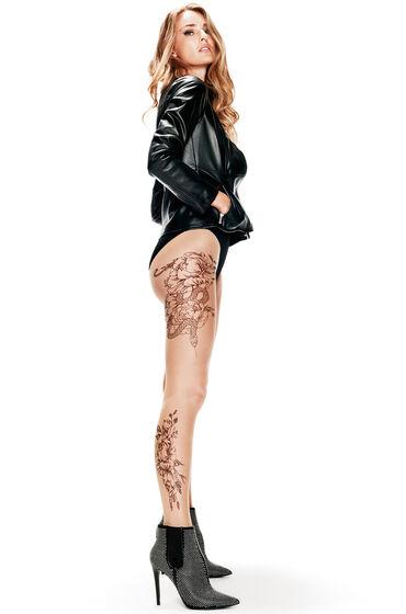 Hunkemöller Tights all over tattoo Huidskleur
