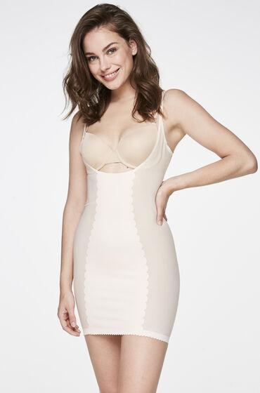 Corrigerende jurk Scallop Huidskleur