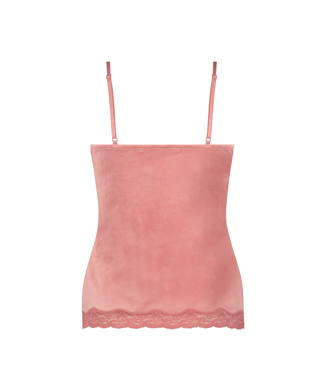 Cami Velours Lace, Roze, main