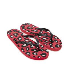 Teensslippers Leopard, Rood