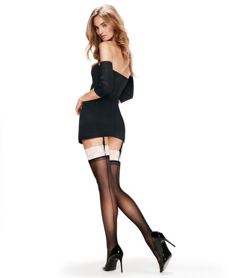 Stocking 30 Denier Lace, Roze