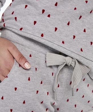 Pyjama short Sweat, Grijs
