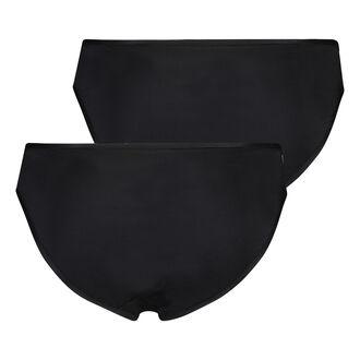 2 paar slips Angie, Zwart
