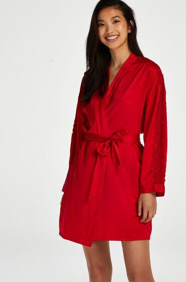 Hunkemoller Kimono Satin Rood