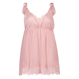 Slipdress Lace Satin, Roze