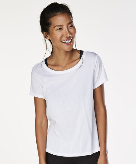 HKMX running shirt short sleeve, Wit