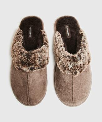Pantoffels Suede, Bruin
