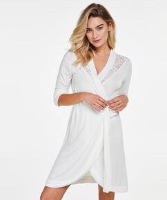 Badjas Modal Lace, Wit