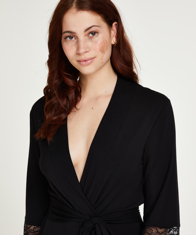 Kimono Vera Lace, Zwart, main