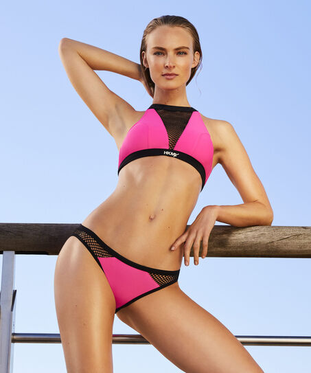 HKMX Laag bikinibroekje Mesh, Roze