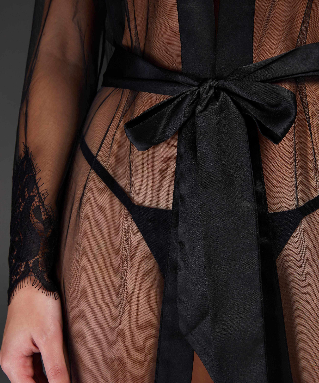Lange Kimono Cravache, Zwart, main