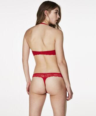 Voorgevormde push-up beugel bh Angie, Rood
