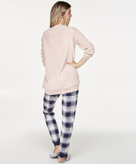 Pyjamabroek Check, Blauw
