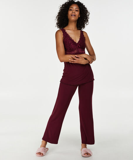 Pyjamaset Modal lace, Rood