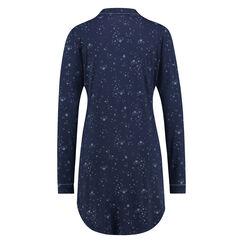 Nachthemd Menshirt Jersey, Blauw