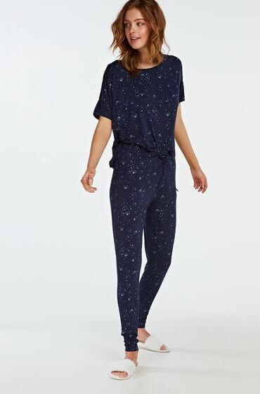 Hunkemöller Pyjamabroek Jersey Blauw