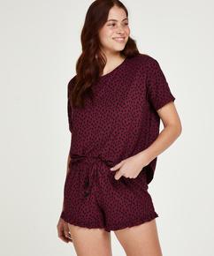 Korte pyjama set Dot, Rood