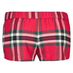 Pyjama short Check, Rood
