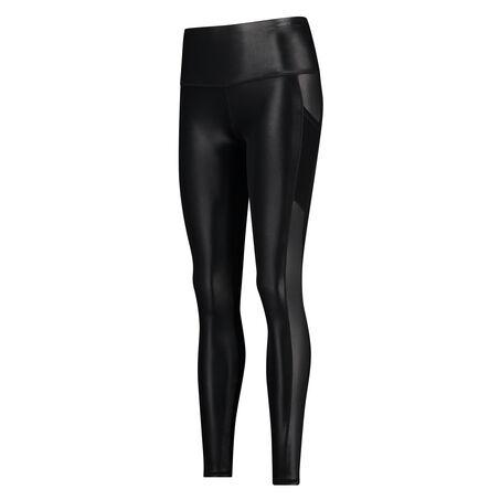 HKMX high waist sport legging Shiny, Zwart