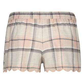 Pyjama short Check, Roze