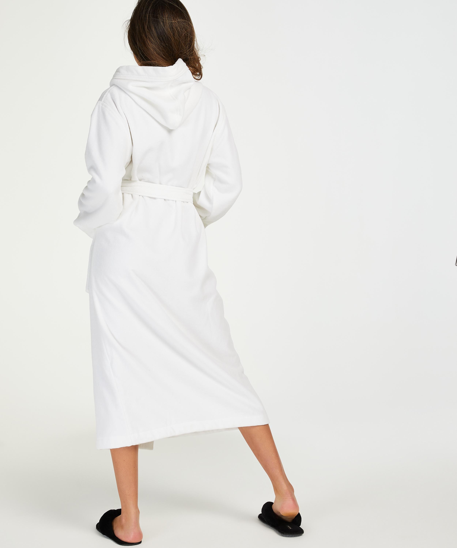 Lange badjas Fleece, Wit, main