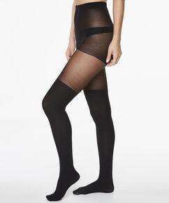 Panty Overknee sock, Zwart