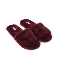 Image of Hunkemöller Huisslippers Fur Top Rood