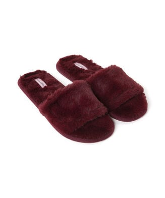 Slipper Fur Top Lady, Rood