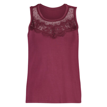 Top Jersey Lace, Rood