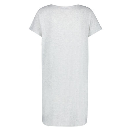Nachthemd ronde hals, Grijs
