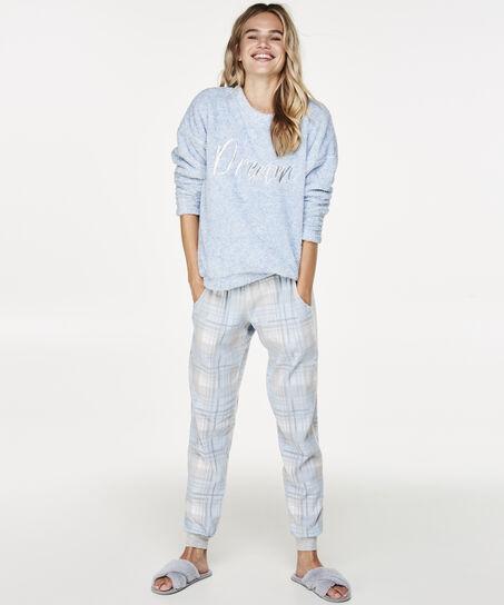 Sweater Fleece, Blauw