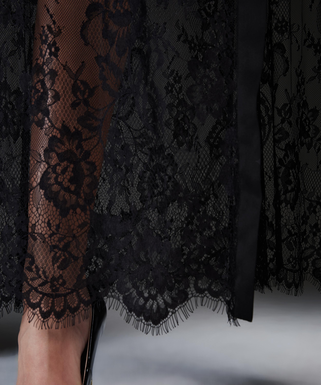 Lange Kimono Allover Lace, Zwart, main