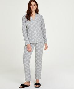 Pyjama set Boyfriend Heart, Grijs