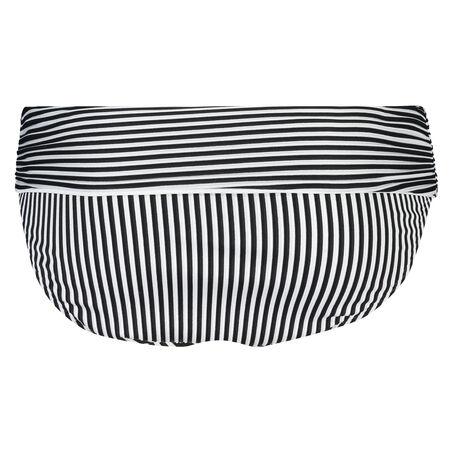 Omslag bikinibroekje Straps and Stripes, Zwart