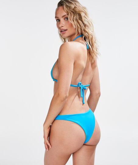 Reversible high leg bikinibroekje, Blauw