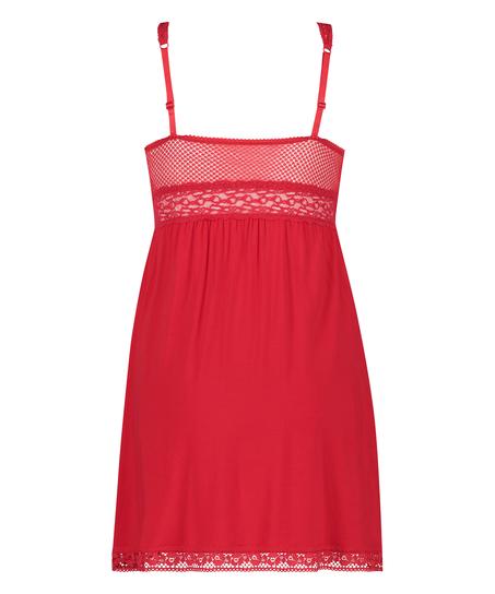 Slipdress Jersey Grafic Lace, Rood