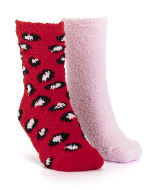 2 Paar Cosy Socks, Rood
