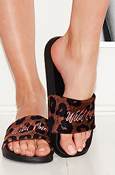 Hunkemöller Slipper Desert Animal Zwart