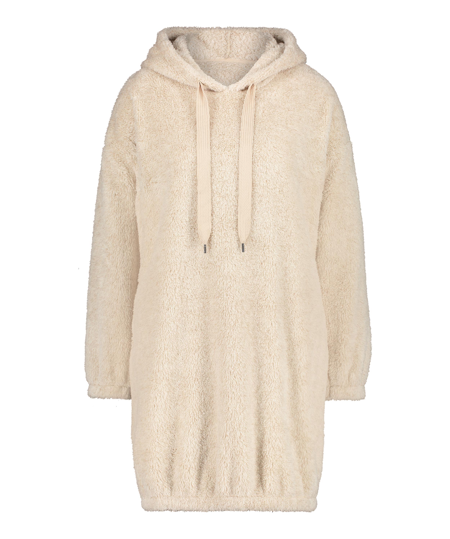 Snuggle Fleece Jurk Oodie, Beige, main