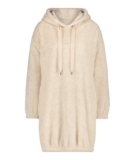 Snuggle Fleece Jurk Oodie, Beige