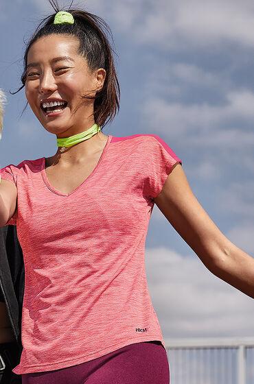 Hunkemöller HKMX sportshirt met korte mouwen slim fit Roze