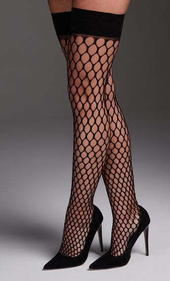 Stay-up Fishnet Private Big Sexy, Zwart