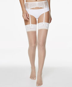 2 paar Stockings 15 Denier Lace, Huidskleur