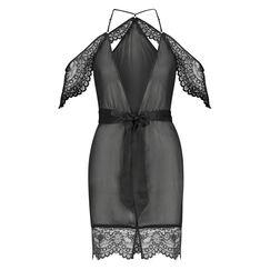 Kimono chiffon lace, Zwart