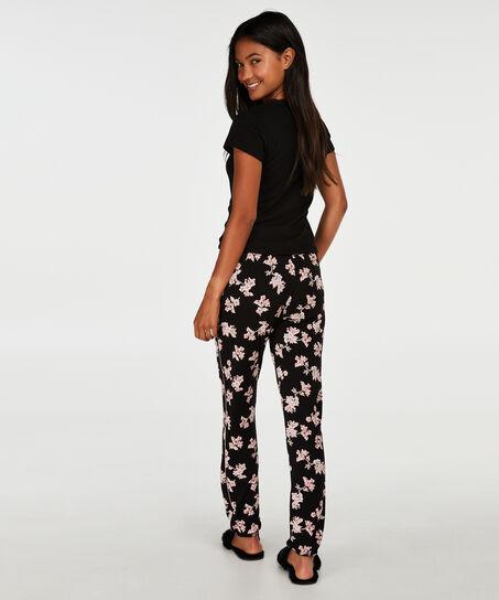 Pyjamabroek Jersey, Zwart