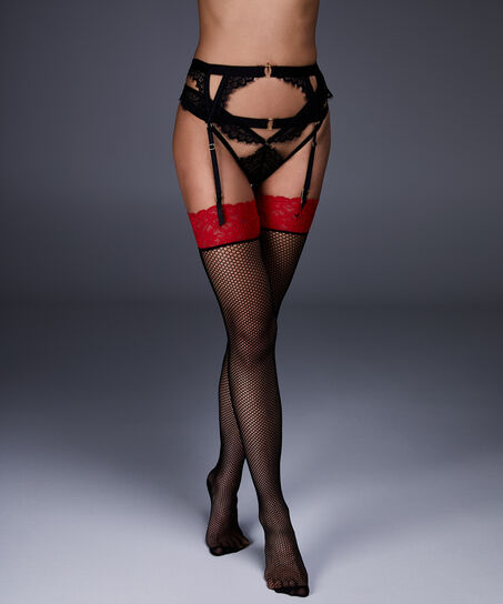 Stocking Private Red Top Fishnet, Rood