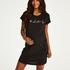 Zwangerschapsnachthemd met korte mouwen, Zwart